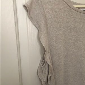 Old Navy Tops - Nude tank with frilly sleeves!